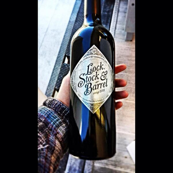 Can't believe our 2012 Lock, Stock & Barrel won Red Wine Of The Year at  All Canadian Wine Awards #WhatAnHonour http://t.co/QyA9HkH9hA