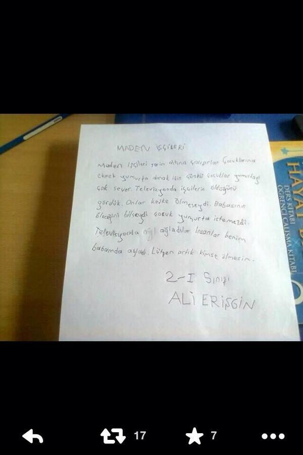 'babasının öleceğini bilseydi çocuk yumurta istemezdi...'2sınıf öğrencisi Ali'nin somalı işçiler için yazdığı mektup! http://t.co/LNavCu0jnj