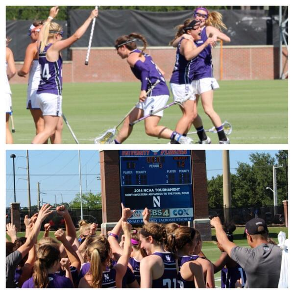 Give it up to @TheKatsMeow4 for her game-winning overtime goal that sent the #B1GCats to the NCAA semifinals. http://t.co/XHV4Gjs68r