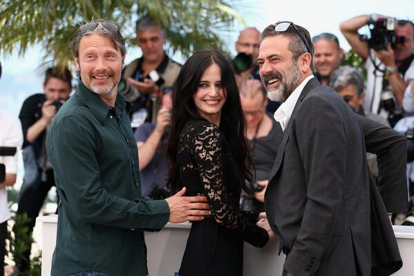RT @ElenaStrBlogger: Eva Green, Mads Mikkelsen and Jeffrey Dean Morgan attended #TheSalvation photocall in Cannes today.  | #Cannes2014 http://t.co/ptZS3YNVEk