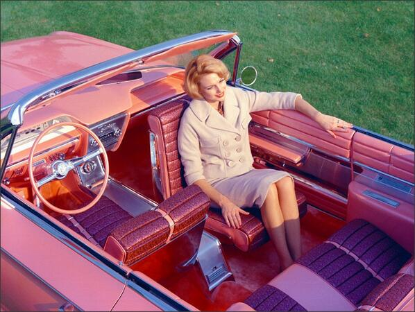 """1961 Buick """"Flamingo"""" with rotating front seat. http://t.co/fKARX4az4O"""