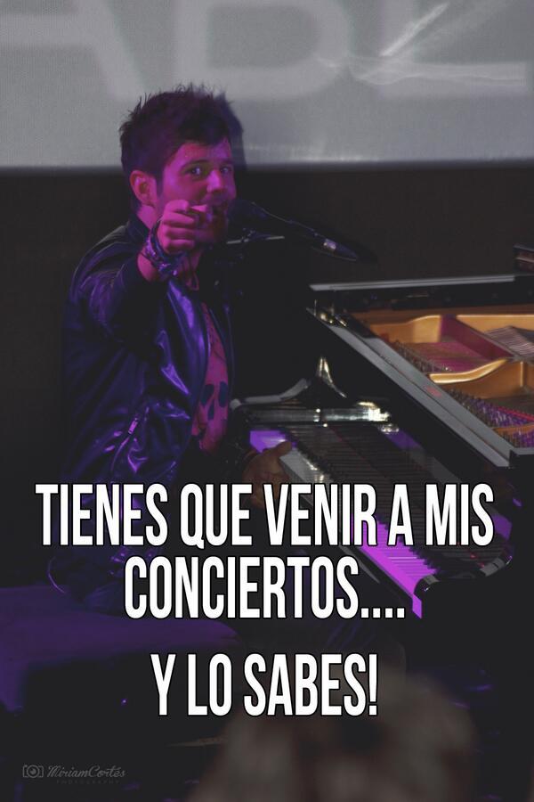 Tienes que ir a los conciertos de @PabloLopezMusic ... Y lo sabes! ;-) http://t.co/beeTsMf0He