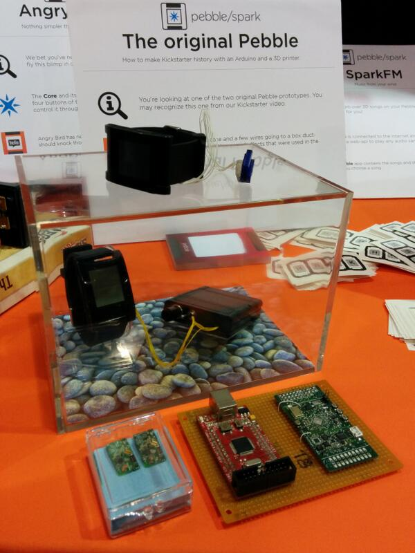 We've got the original @Pebble prototype on display here at @makerfaire :) http://t.co/2tCaLu85Z3
