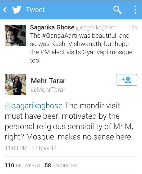 When a Pakistani journalist makes more sense about secularism than @sagarikaghose http://t.co/RvuhvLvdV1