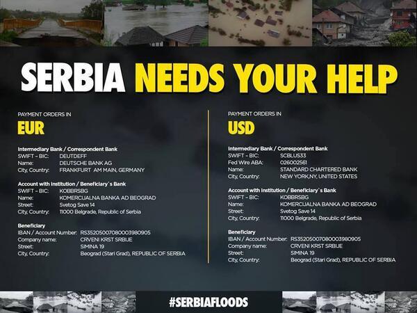 Accounts for international donations #serbiafloods #serbia http://t.co/zSZ8ZrHJZD