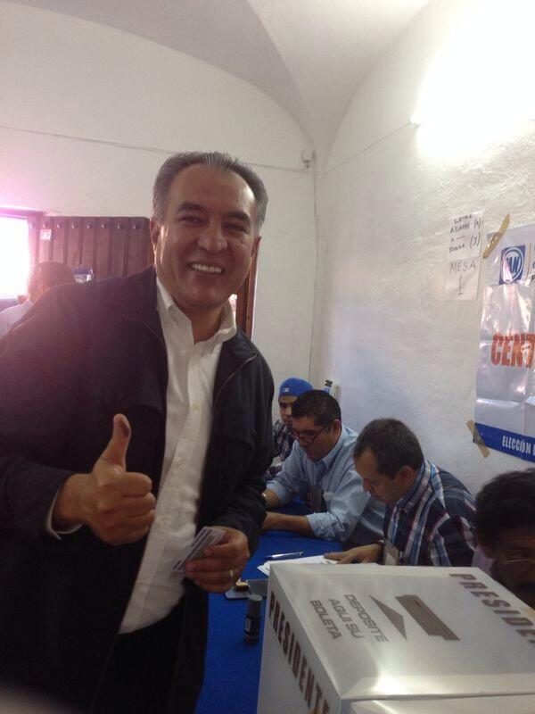 Fue un gusto votar en Morelos y constatar la participación, orden y alegría de los panistas en el proceso. http://t.co/wSHPnxUinY