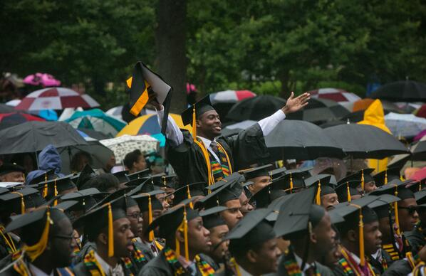 Congratulations to the approximately 430 new @Morehouse Men who graduated from the College today! http://t.co/BnTFLfX2FZ