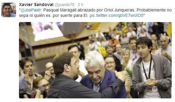 ATENCIÓ amb tuit del secretari del #PSC  Sant Vicenç de Montalt. http://t.co/pMQWgvnDmi
