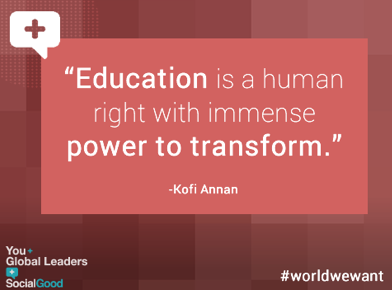 """""""Education is a human right with immense power to transform."""" RT if you agree! (via @unfoundation) http://t.co/zSDcNXBq0f"""