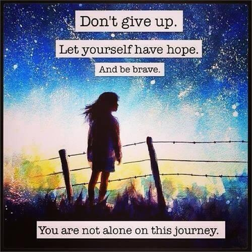 """we don't give up!""""@HealingFromBPD: Don't give up ... we are never alone. #BPD #BPDfriends #Recovery #Hope @BMarshall http://t.co/vInWGOvGDM"""""""