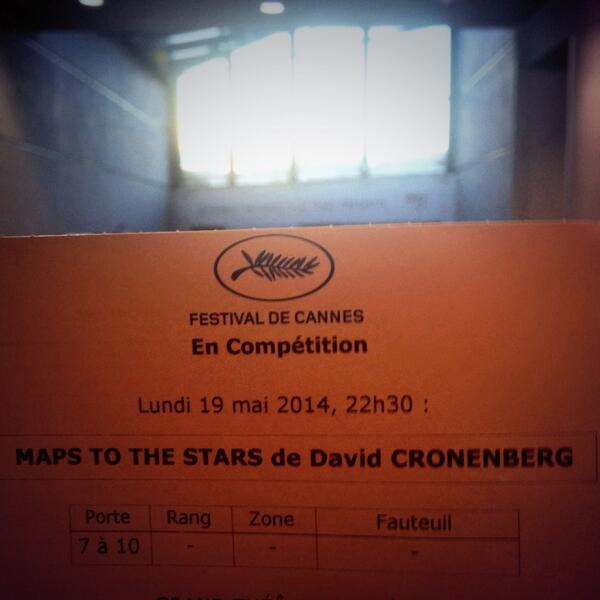 Lucky enough to have a #MapToTheStars for tomorrow.   #Cannes2014 #RobertPattinson #Cronenberg http://t.co/L5Ik1eUYYA