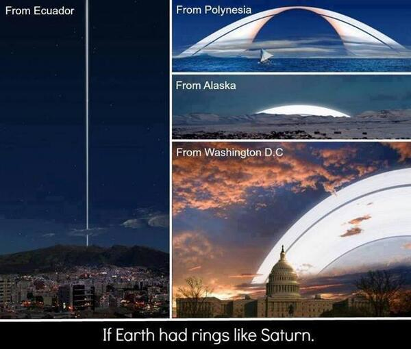 If Earth had rings like Saturn: http://t.co/7tJpUMOWVG