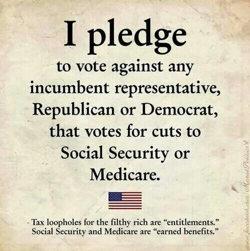 Social Security And Medicare Are Earned Benefits!  #Vote #UniteBlue #p2 http://t.co/HPq4pqB5r1