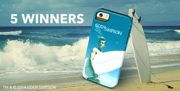 Take @codysimpson & his #surfboard everywhere you go. RT this for a chance to win the Endless Summer case! #CodyCases http://t.co/1rhdn6rO1L