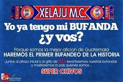 Nueva o viejita, cara o barata tu bufanda no puede faltar el domingo al MC #XelajuMC http://t.co/St6bPGbvvk