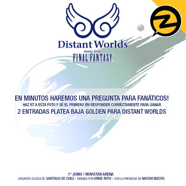 Nuevo desafío ! Haz RT a esta foto y sé el 1° en responder correctamente para ganar 2 entradas a #FF #DistantWorlds! http://t.co/DuGrtXifvG