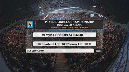 Lo que puede ser en  en 20 años con los Federer... http://t.co/6PMZuV4aS9