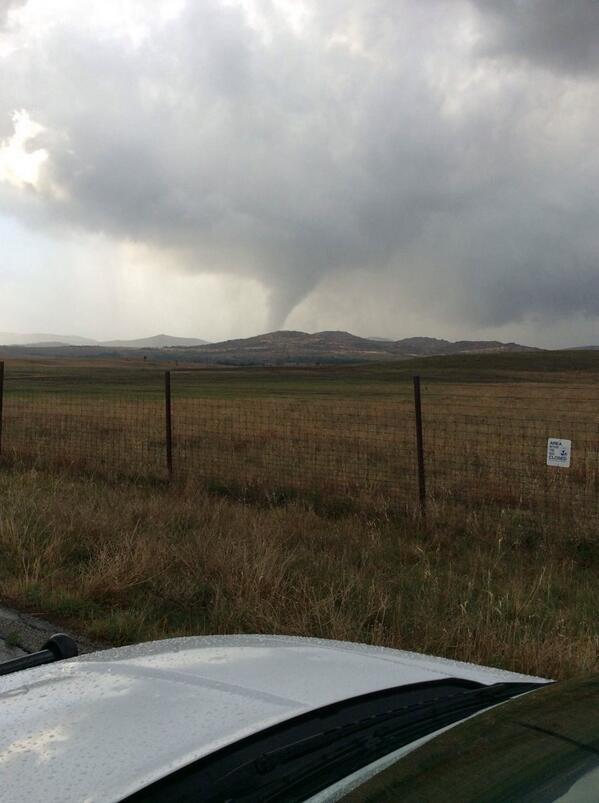 Tornado in Wichita Mountains Wildlife Refuge earlier this evening. Image courtesy Shawn Komahcheet and @AustinKSWO http://t.co/qvmyoiIxfT