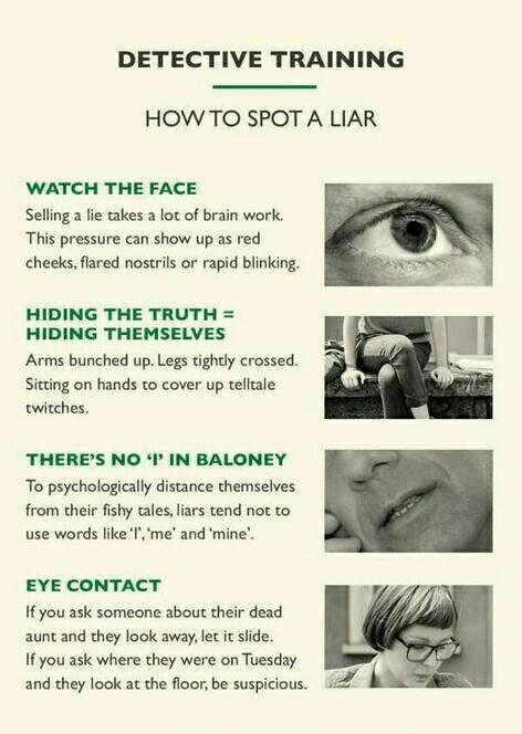 How to spot a liar: http://t.co/89Dv4A4UFK