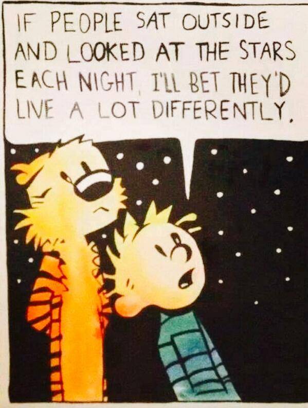 If people sat outside and looked at the stars... #OneSky http://t.co/dlTVJ75bhZ