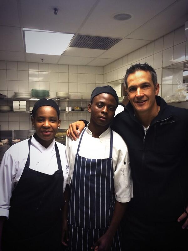 Today Tendani from @DiepslootMTB starts in the kitchen @TheSaxonHotel He has been mentored by @The_Mr_Ross and team http://t.co/teocX7U2Dn