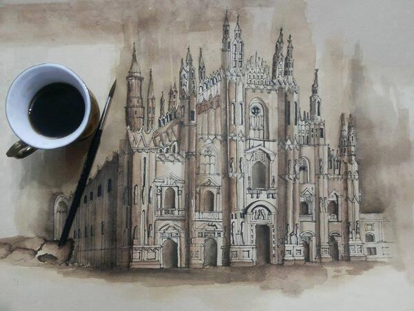 SKETCH COFFEE ART by Mariam Samir . http://t.co/vOP8GG9LsF #art