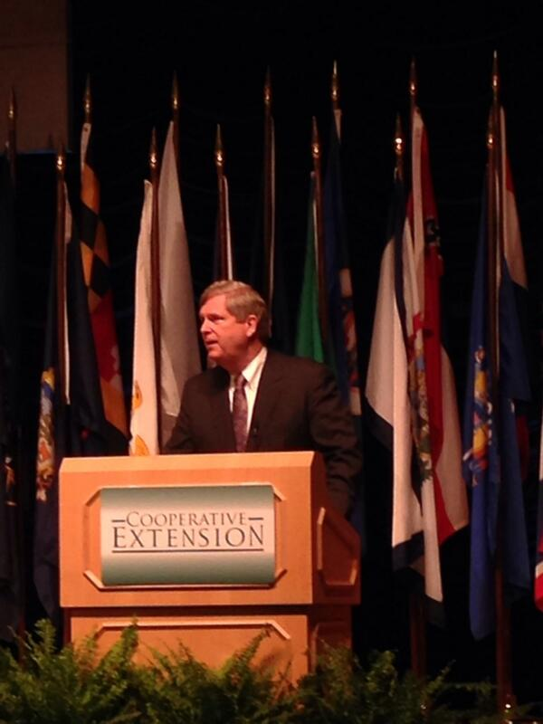 .@USDA Sec Vilsack: No one in our shop doubts the ability of Extension to get the job done. #CE100 #Ext100Years http://t.co/sDiwkycsj1