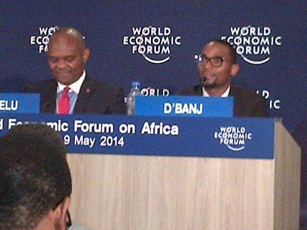 Big philanthropy & celanthropy come to Africa: philanthropist Tony Elumelu & D'banj at #doagric launch #wefafrica http://t.co/nlz2bAXXc7