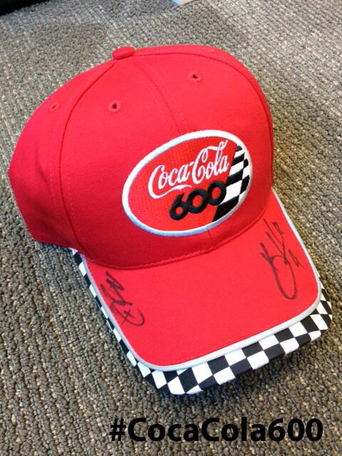 Look your best at #CocaCola600. Retweet by 12p for chance to win this hat, signed by @KevinHarvick & @BrantleyGilbert http://t.co/6D0BVJdSyJ
