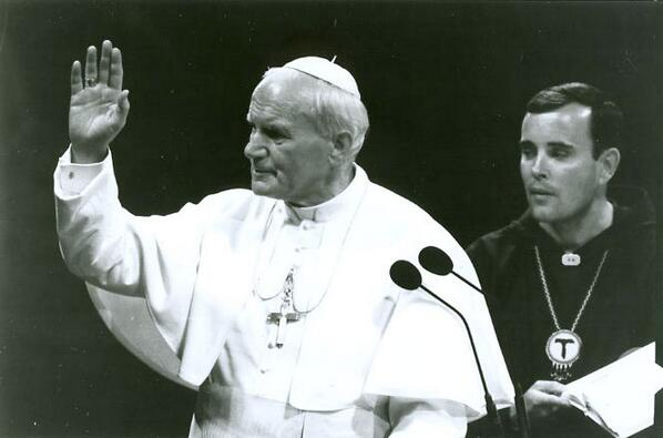 Check out this photo of +Chaput with Saint John Paul II on May 5, 1988 taken in Arizona #TBT http://t.co/nrHr3Czlon