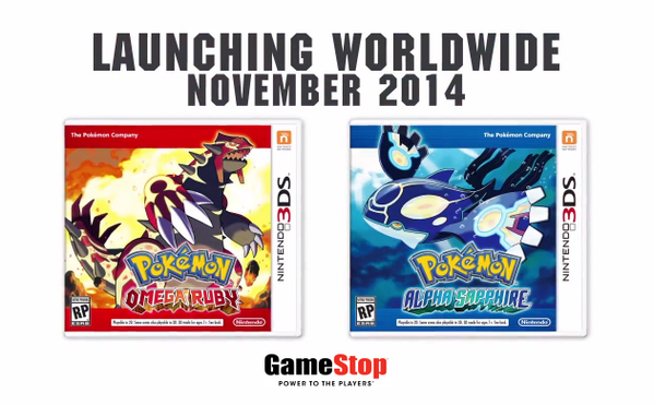 GameStop (@GameStop): Who's ready for #Pokemon #OmegaRuby and @Pokemon #AlphaSapphire?! Pre-order now: http://t.co/c7s7I1KDOL http://t.co/TDuksZex8x