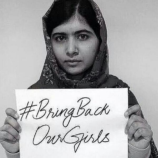 #BringBackOurGirls #BokoHaram thanks Malala for inspiring. http://t.co/tT04R5ZctR