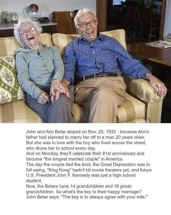 The longest married couple... http://t.co/W28pMQUhCG