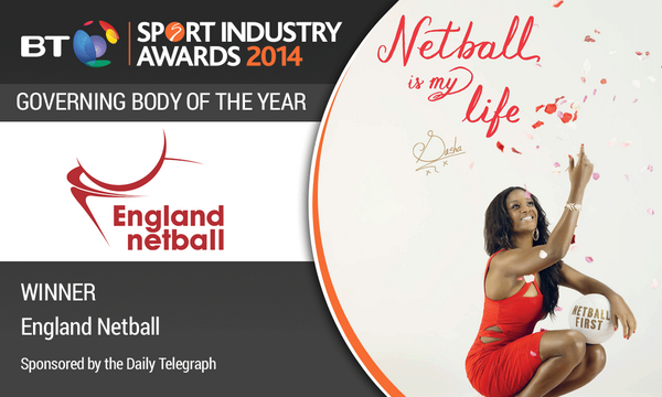 WINNER Governing Body of the Year, sponsored by the Daily Telegraph: England Netball #BTSIA http://t.co/bGoiwnoPYD