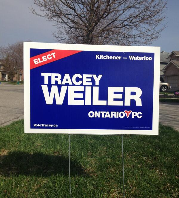 Tracey Weiler (@traceyweiler): Lawn signs are going up across #kitwat ...