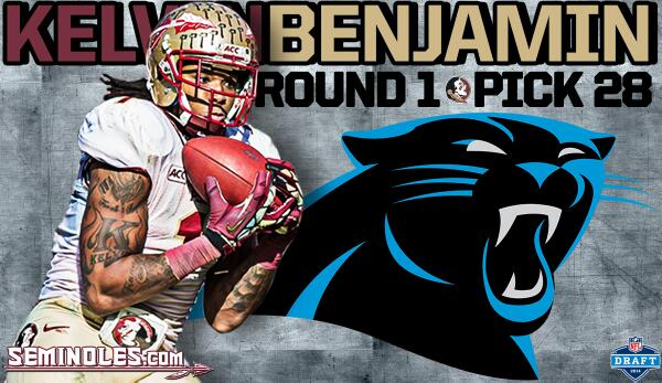 The 40th 1st-round draft pick in #Noles history is WR Kelvin Benjamin. KB headed to Carolina Panthers. http://t.co/8Vu4SnAB6n