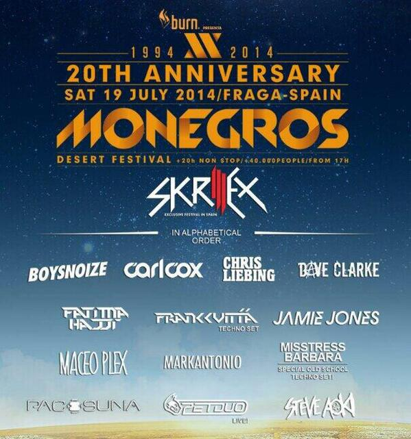 Ready to drop sonic bombs @MONEGROSFEST 14! We'll be doing a special Live PA session, more tba...watch this space