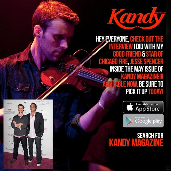 Plz check out my buddy @Jesse_Spencer and I in this months @mykandymagazine  - I dare say, it's awesome! http://t.co/SL1B2MmbtI