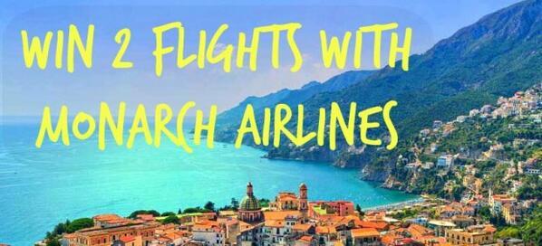 WIN 2 return flights w/ @Cheapflights & @Monarch http://t.co/SyRDxX1etE #winmonarchflights #ttot http://t.co/EsgwdbWaeR