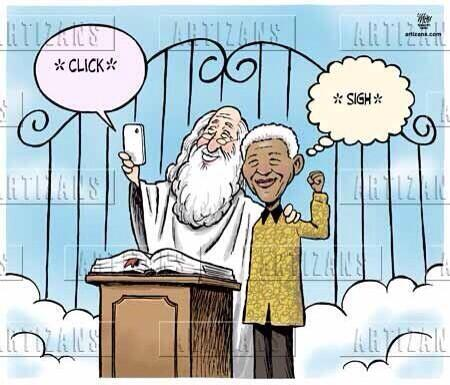 The cartoon that @TheDesmondTutu referenced when throwing out the term #selfie! @Leadercast #leadercast http://t.co/bvKKfbVn7T