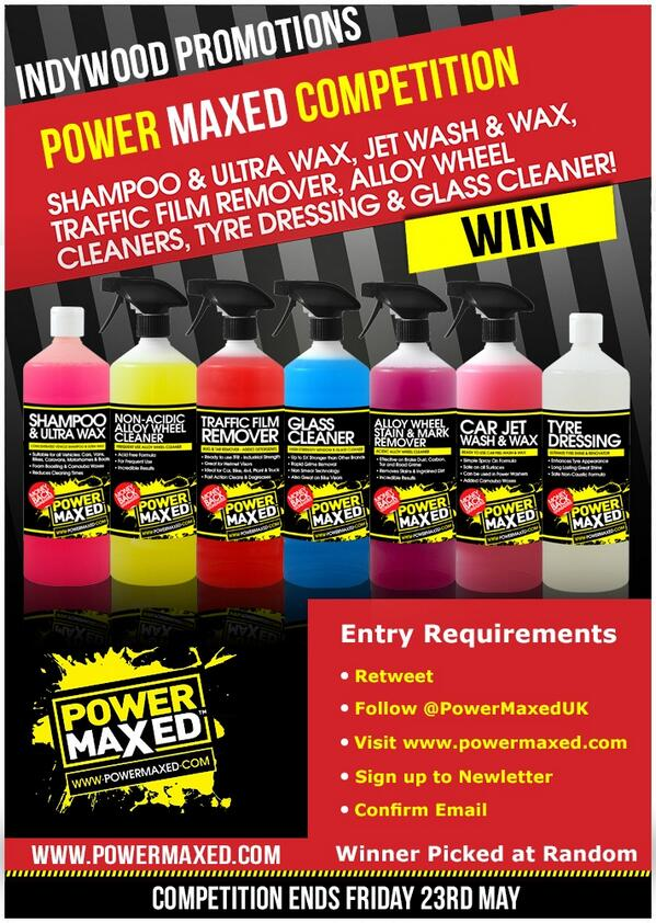 Win some amazing #car #cleaning products from the totally awesome @PowerMaxedUK - this is top notch product! #RT #Win http://t.co/dq44zmjmd7