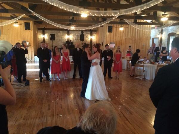 Congratulations to the newlyweds, Mr. and Mrs. Jones! We love you! http://t.co/iA8CiRr3FU