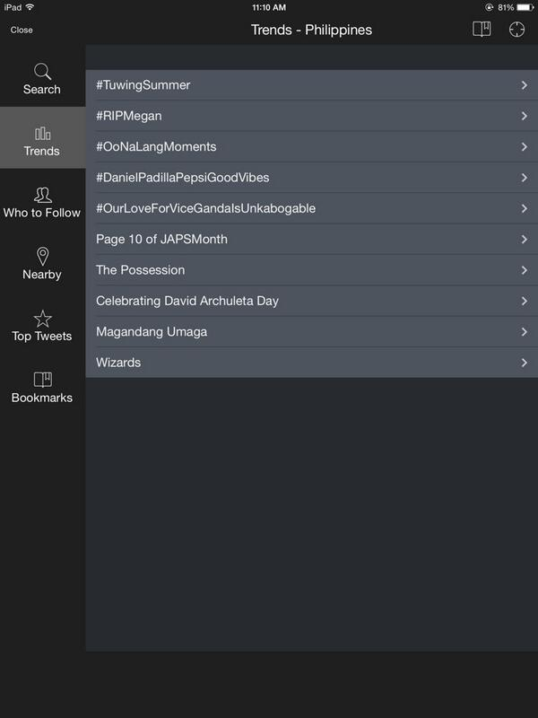 Trending in the Philippines owyeaahh \m/ @DavidArchie | Celebrating David Archuleta Day http://t.co/snNXnlCiL0