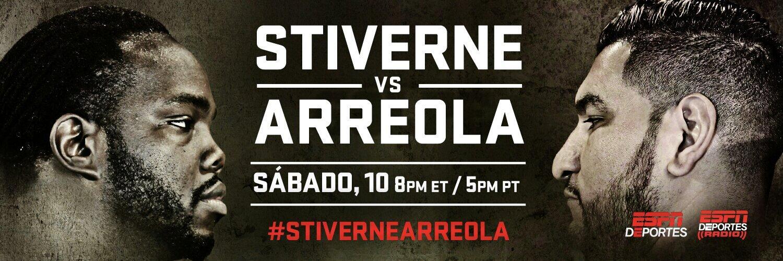 Hoy 19:30 hora de Venezuela @ESPNBoxeo #StiverneArreola x el cetro de los completos del @WBCBoxing Los Esperamos http://t.co/lzVLbTXDdY