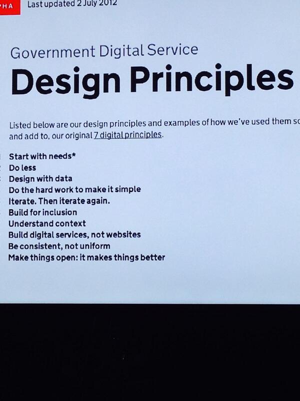 Amen. Gov.uk design principles via @timoreilly, at #tedxmkt http://t.co/ewjcnbpf2g
