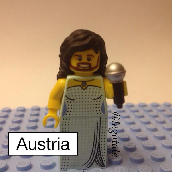 "lego please make this minifig! RT @MaggieA: LEGO CONCHITA ""@legotale: You asked for it dear followers  @Eurovision http://t.co/Xji6kxX3fI"""