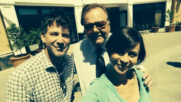 Shooting with the great Paul Sorvino and lovely Catherine Bell http://t.co/dyPTkrz16d