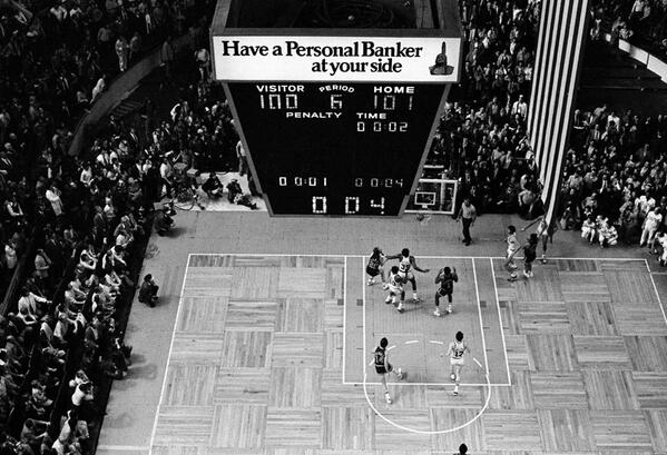 Celtics-Bucks. 1974 NBA Finals. Game Six. Forty years ago tomorrow. http://t.co/FnhLPZ73vM