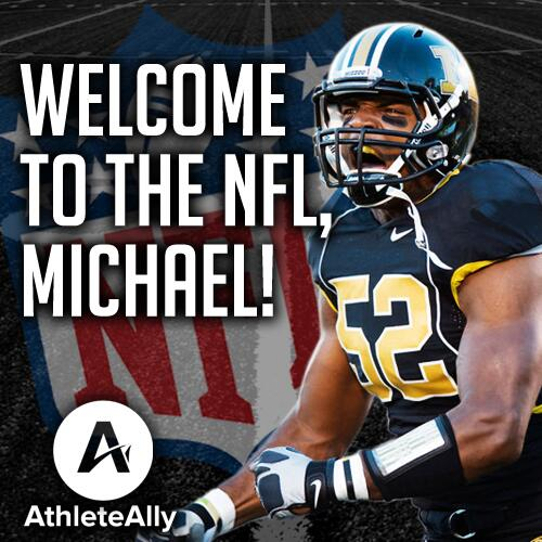 History is made! Michael Sam drafted by the St. Louis Rams. #SamFans, let's #StandWithSam. http://t.co/qvvZFT5H4o http://t.co/t0kIe6vbLD