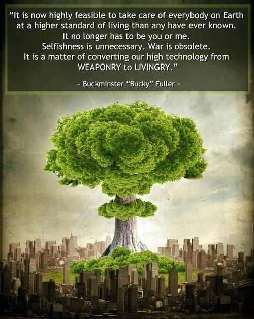 Our collective resources are squandered. To create a better world we must do as Buckminster Fuller suggested. #tccom http://t.co/Lp7FUUOjLa